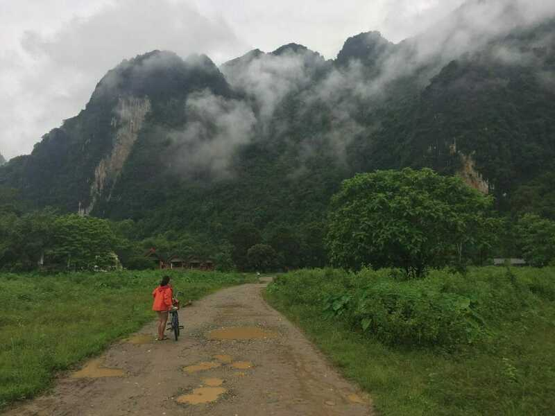 solo traveling in Vang vieng, Laos