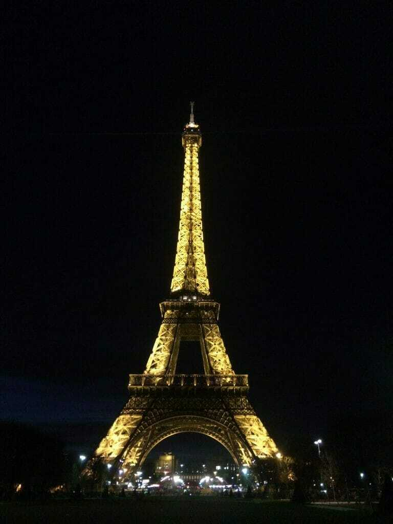 Eiffel Tower at night - best things to do in Paris in 2 days