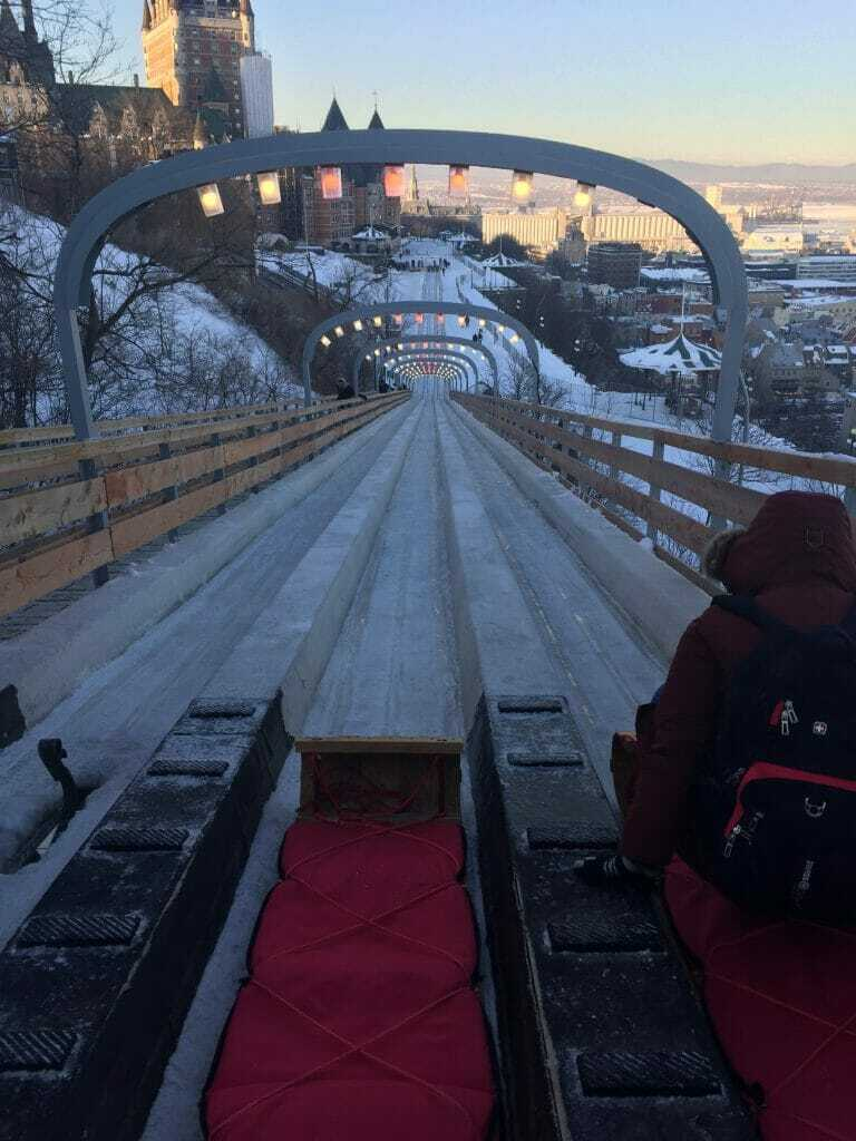 Things to do in Winter in Quebec City  in 2 days: Toboggan ride in quebec city