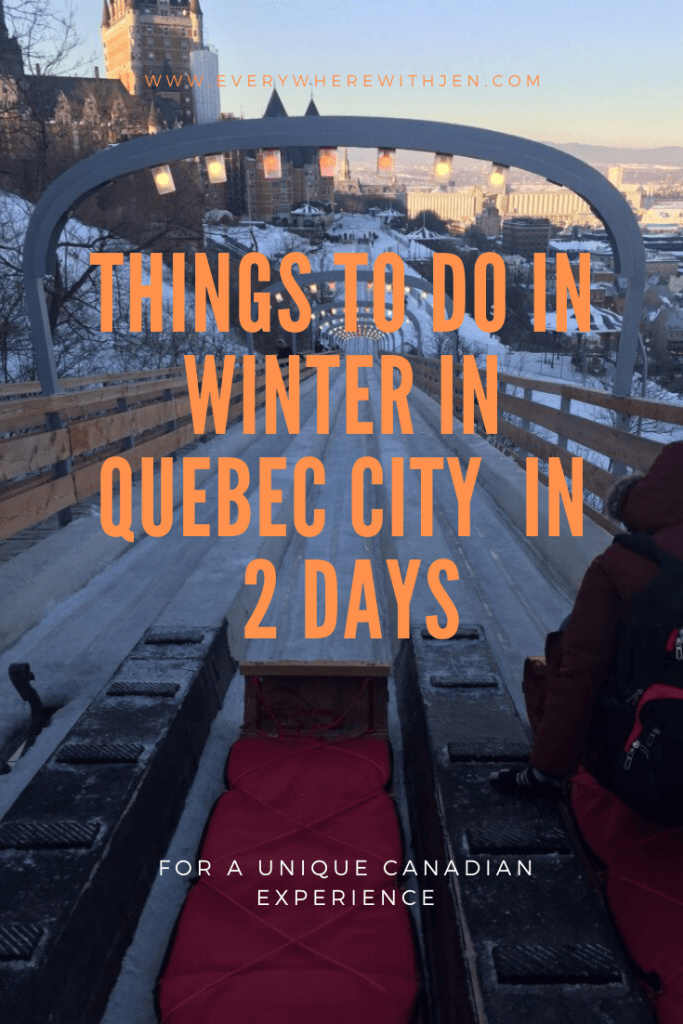 Things to do in Winter in Quebec City  in 2 days